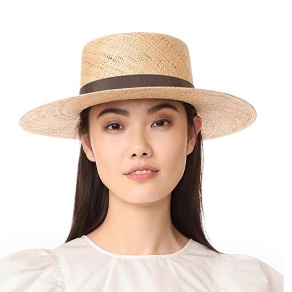 "59de0a70ab0b9 Janessa Leonè Accessories - Janessa Leone ""Jade"" bolero straw hat"